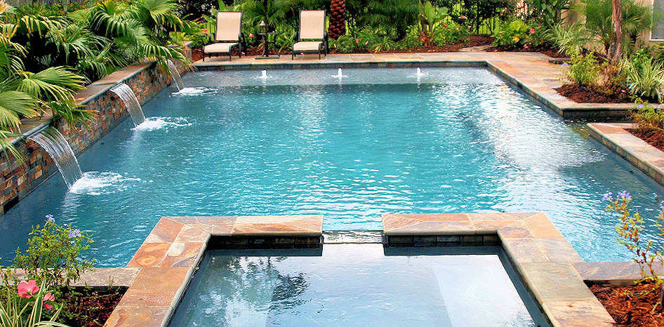 Pools interior design for Pool and spa builders